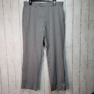 Tommy Hilfiger Men's Gray Flat Front Dress Pants